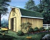 Barn Storage Shed with Loft