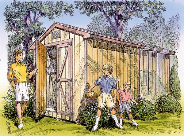 85903 - Gable Storage Shed