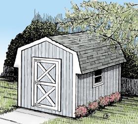 Mini Barn Storage Shed  - Project Plan 85910