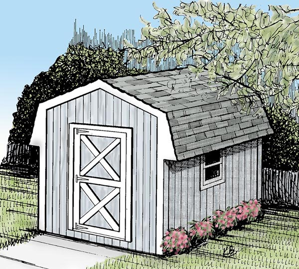 85910 - Mini Barn Storage Shed