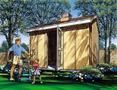 Gable Storage Shed with Cupola