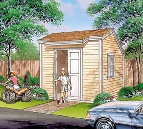 Salt Box Storage Shed