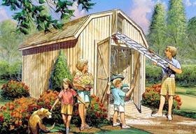 Yard Barn with Loft Storage