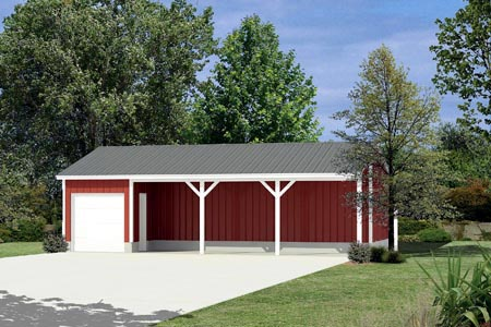 Pole Building - Equipment Shed  - Project Plan 85936