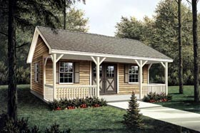 Workroom with Covered Porch