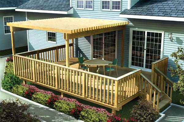 90003 - Large Easy Raised Deck w/ Trellis