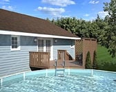 Easy Pool Deck w/ Privacy Screen