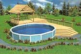 Luxury Split-Level Pool Deck With Trellis
