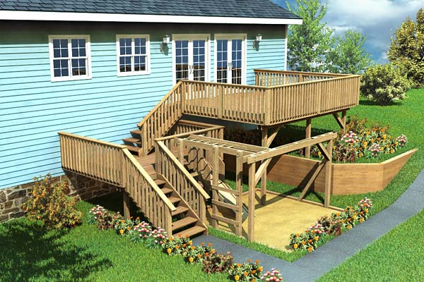 90007 - Split-Level Deck & Play Area