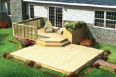 Split Level Patio Deck w/ Planter