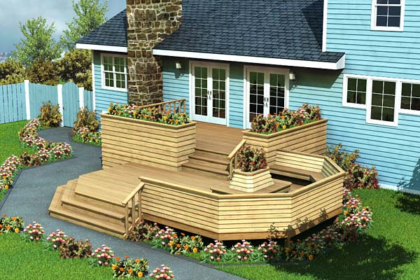 90010 - Luxury Split Level Deck