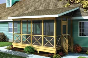 Screened Porch w/ Shed Roof