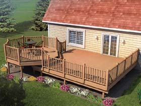 Picnic Deck with Raised Dining Area - Project Plan 90015