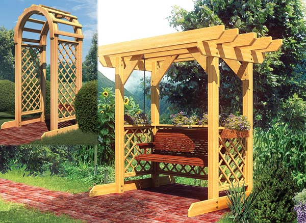 90043 - Swing and Arched Arbor
